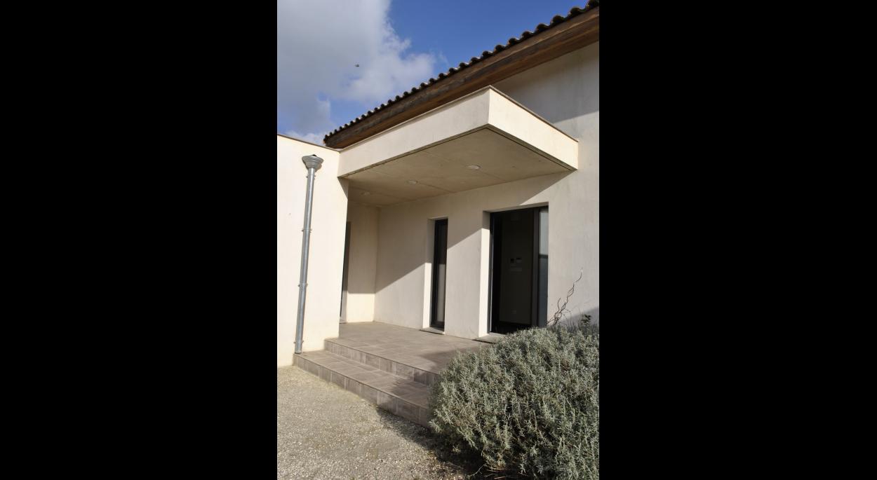 Villa cathedrale - porche - Amélie Soriano Architecte