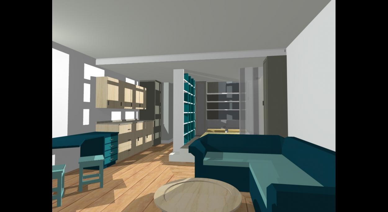 salon , studio, conception feng shui
