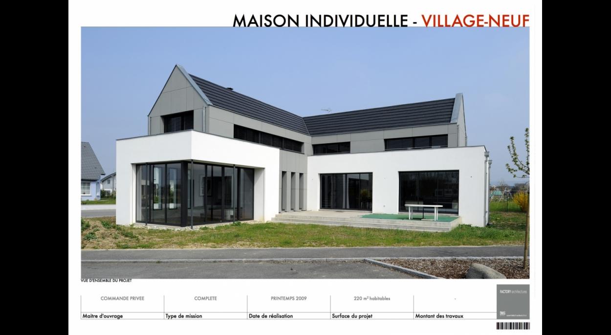 Maison individuelle à Village-Neuf