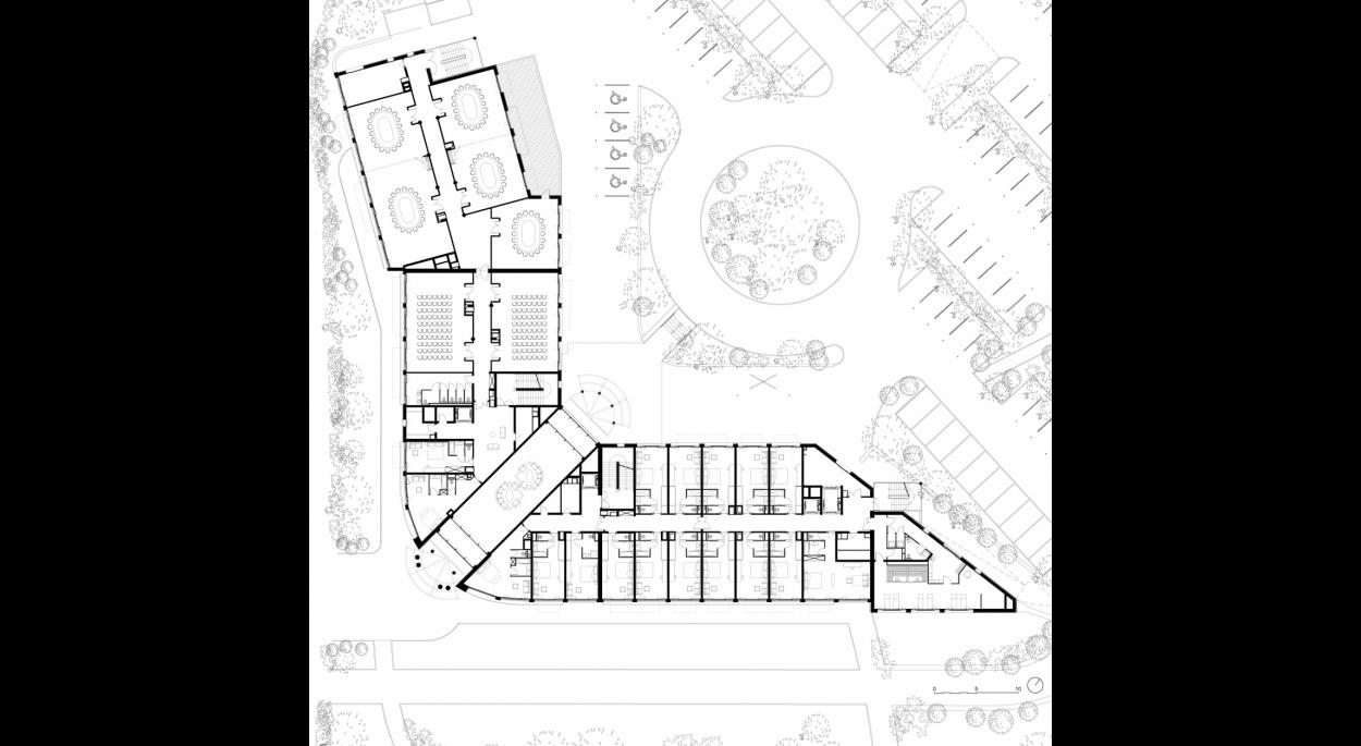 Westotel Hôtel 4*, Le Pouliguen, plan du R+1, Erdre Architecture