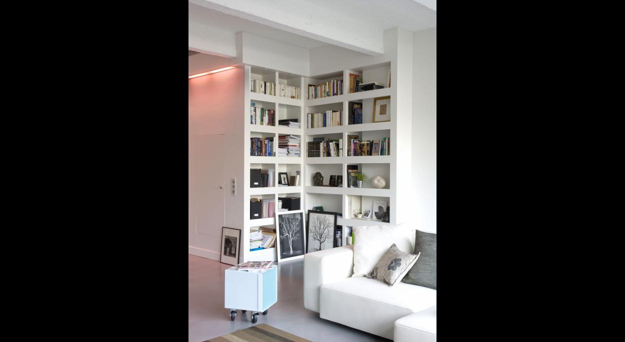 Bibliothèque. Alain Potignon photographe. Appartement T / ARCHI-V.O