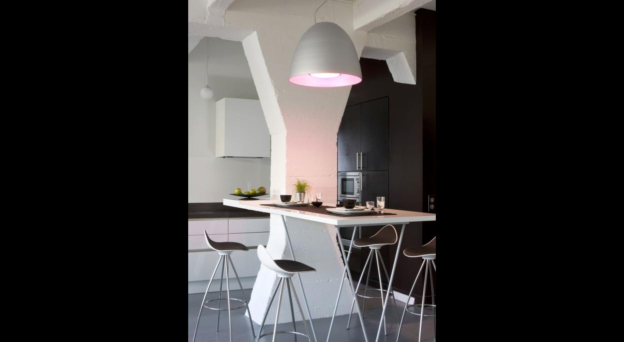 Table salle à manger. Alain Potignon photographe. Appartement T / ARCHI-V.O