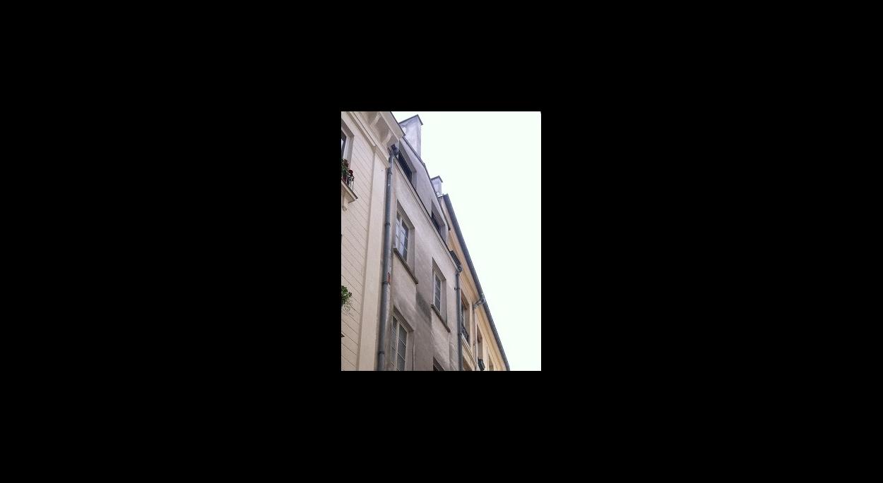 Immeuble rue Geoffroy l'Angevin - Détail façade sur rue
