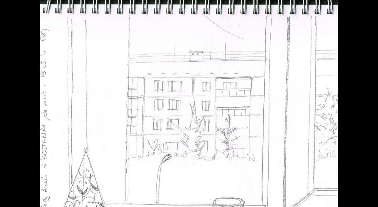 2014, KOSTANAY, depuis la fenêtre de la cuisine, chez Anaïs