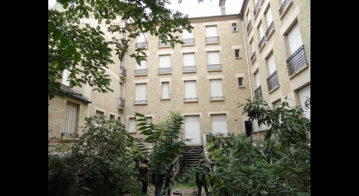 Immeuble 61 Bd Saint-Jacques - vue générale sur jardin avant travaux
