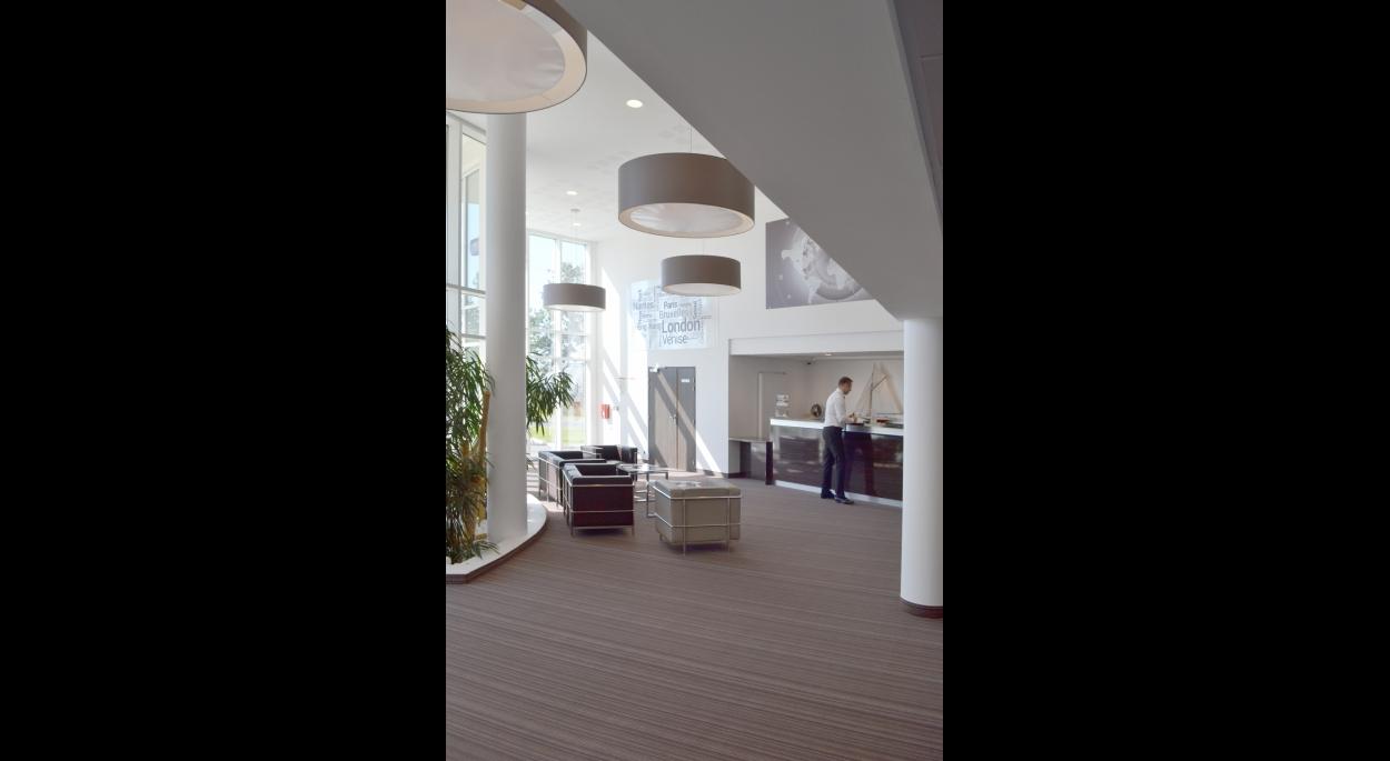 Hôtel Golden Tulip****, Carquefou, le lobby, Erdre Architecture
