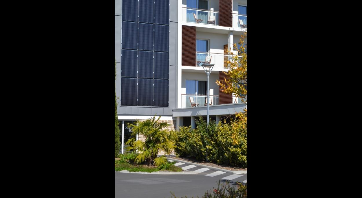 Hôtel Golden Tulip****, Carquefou, panneaux photovoltaïques, Erdre Architecture