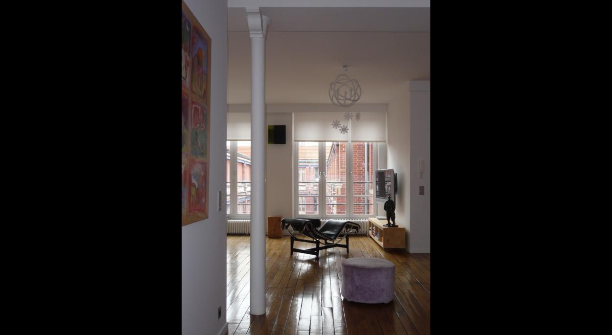 Transformation d'un atelier d'ébéniste en loft. Appartement RV / ARCHI-V.O