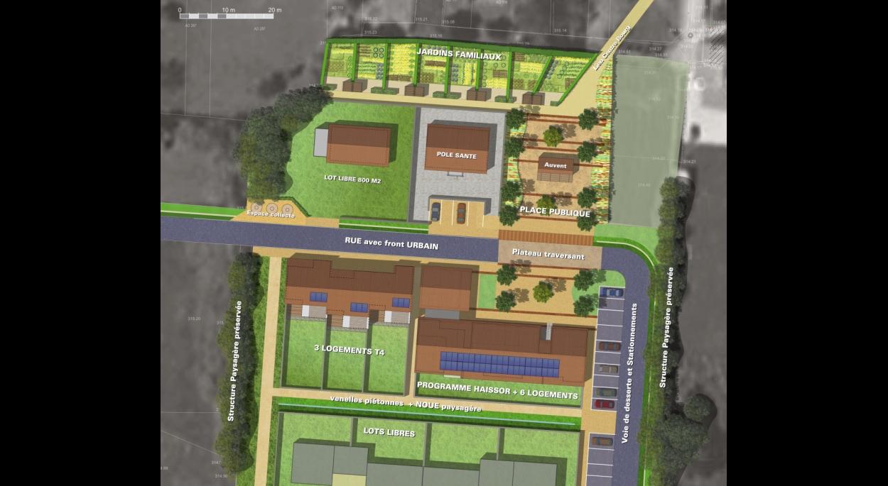 Plan masse du nouveau quartier