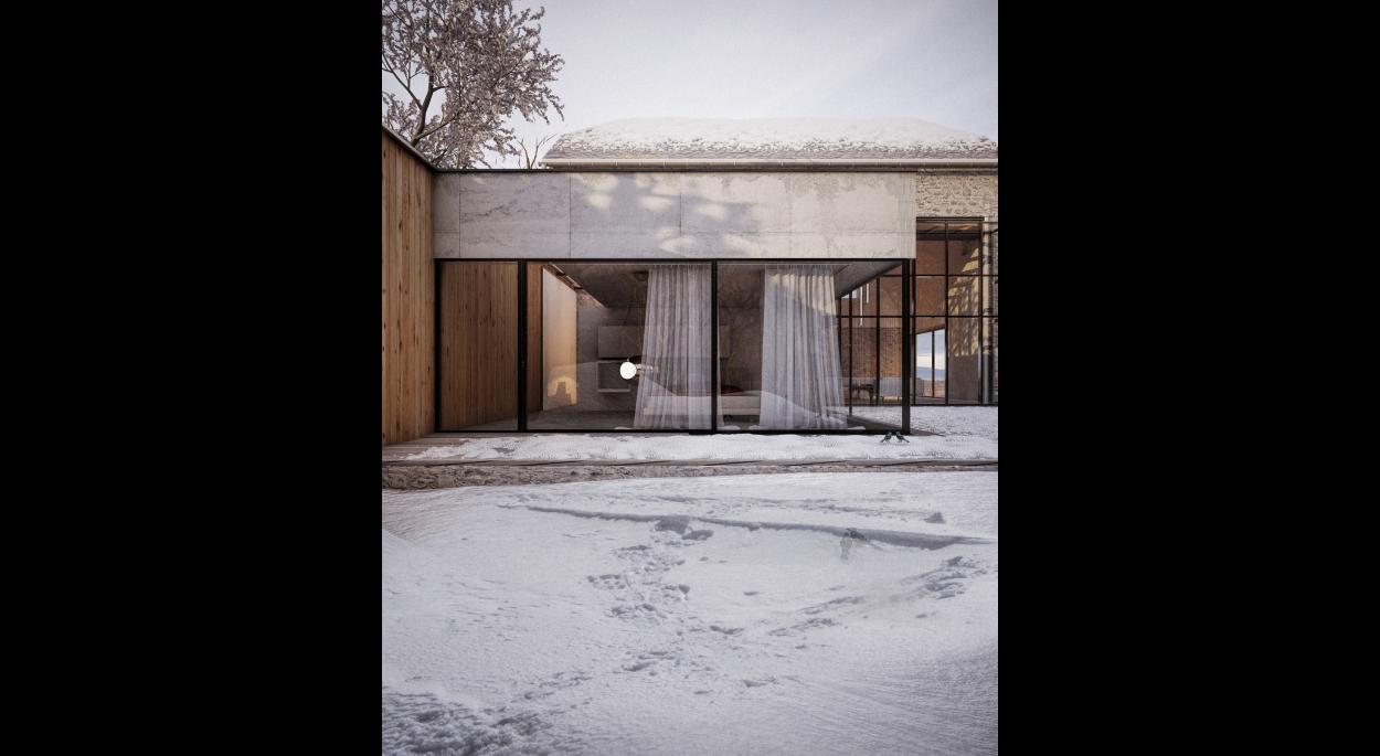 Rénovation d'un corps de ferme en Aveyron Fabrice Commerçon Architecte