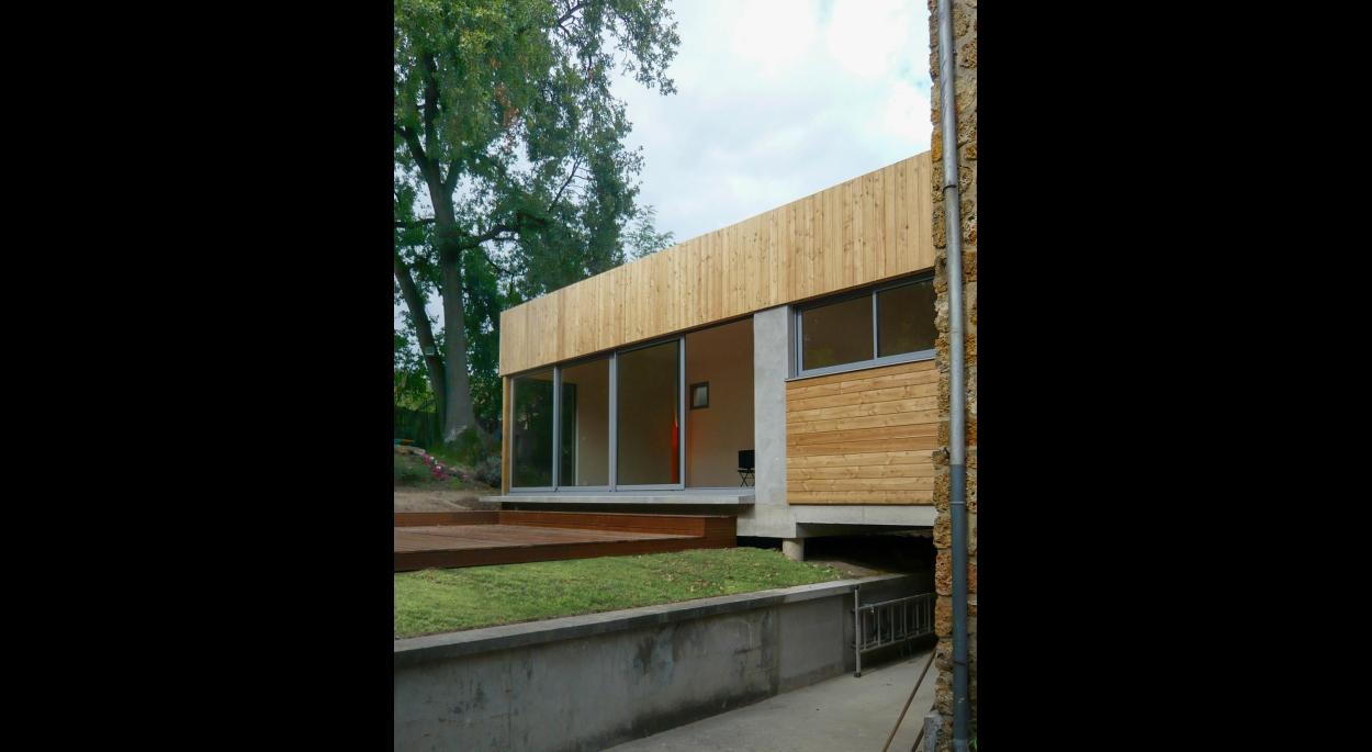 Extension bois-matériaux biologiques Fabrice Commerçon Architecte