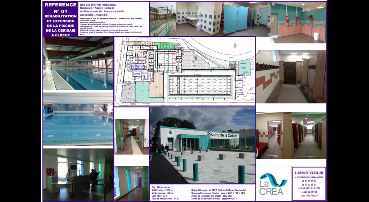 Rénovation Extension piscine La Cerisaie Elbeuf - Florence Vasselin architecte