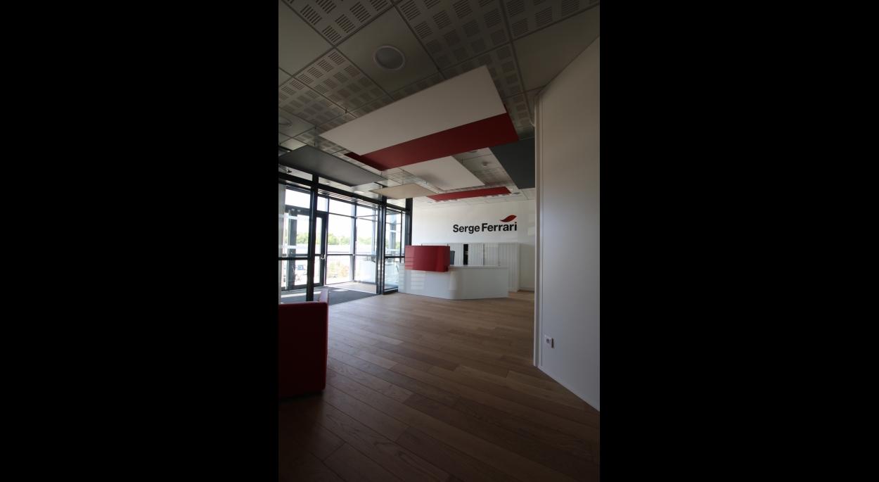 Création de bureaux pour Serge Ferrari