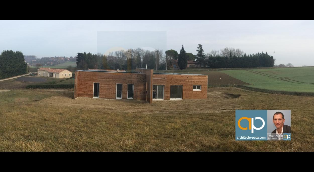 Maison bois d'architecte Pascal CAMLITI