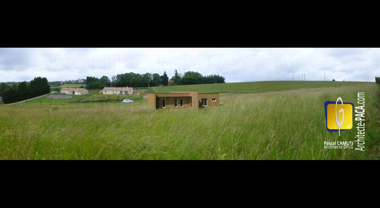 Maison individuelle architecte CAMLITI - Commune LANTA