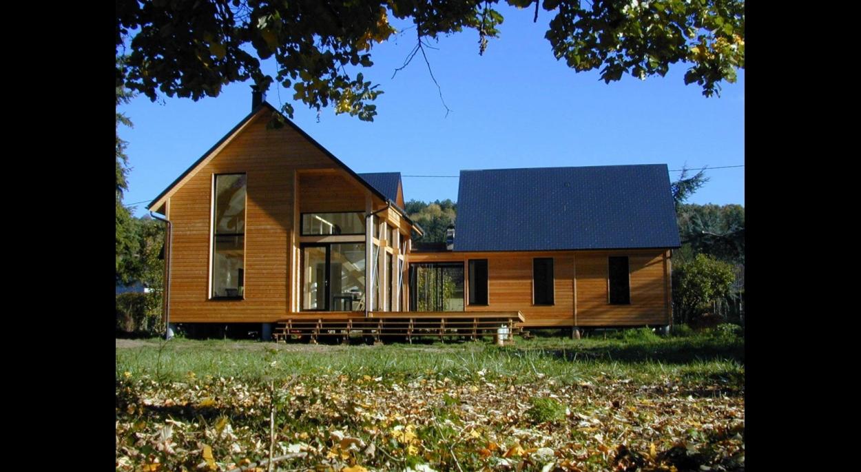 Maison ossature bois dans l'Eure