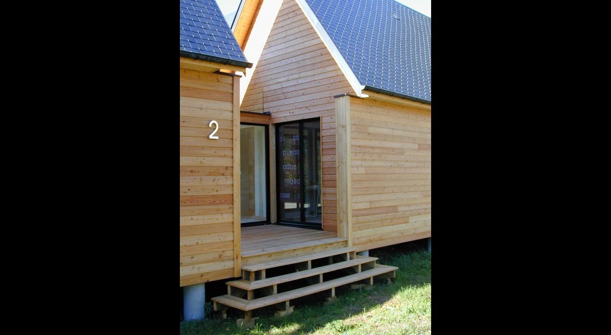 maison ossature bois architectures in situ isabelle chesneau rouen seine maritime. Black Bedroom Furniture Sets. Home Design Ideas