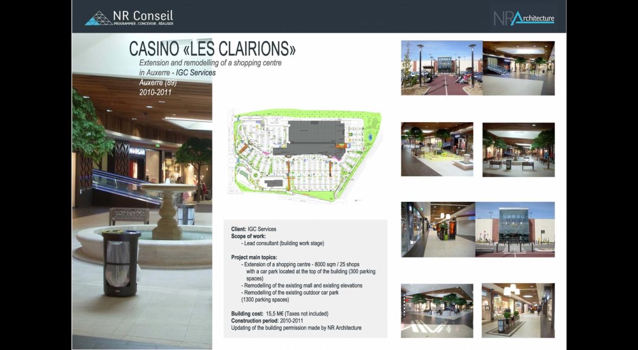 Centre Commercial LES CLAIRIONS (89)