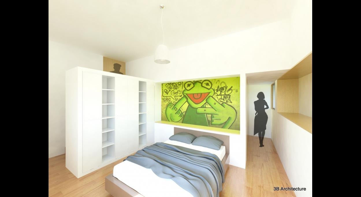 Aménagement d'une suite avec dressing, salle d'eau, bureau et sauna