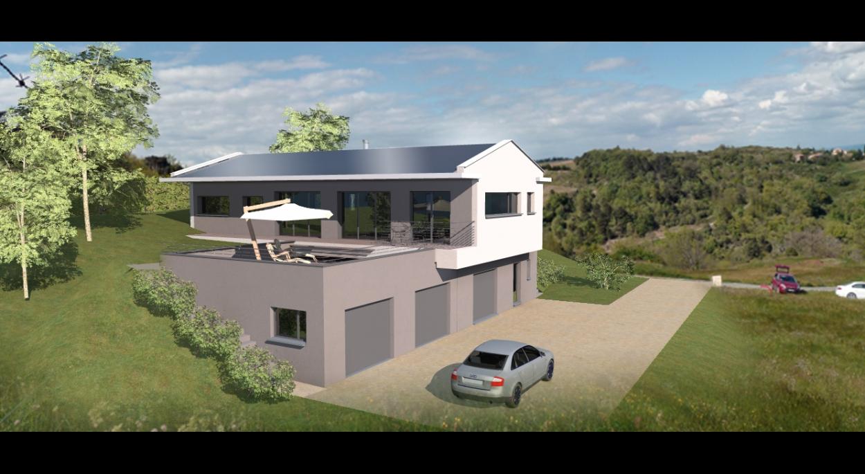 Maison contemporaine bois en ardèche architecte chapellet gely