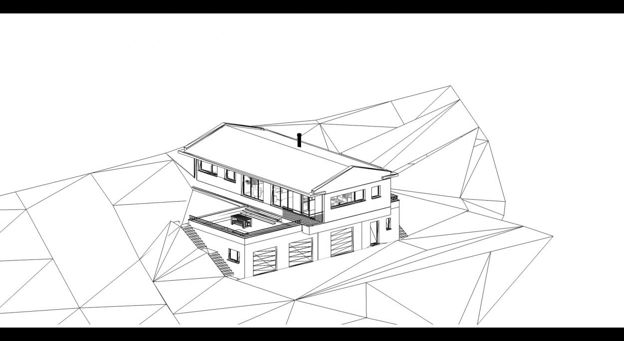 Maison contemporaine bois en ardèche