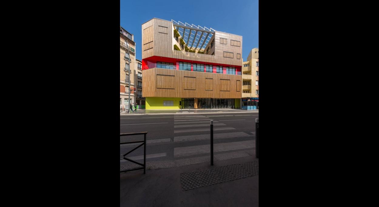 Façade avenue Gabriel Péri © ecliptique / Laurent Thion