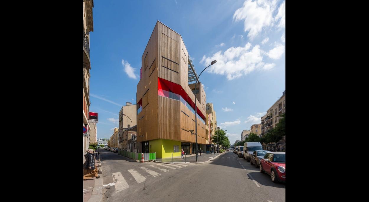 Façade angle avenue Gabriel Péri - Rue Jean © ecliptique / Laurent Thion