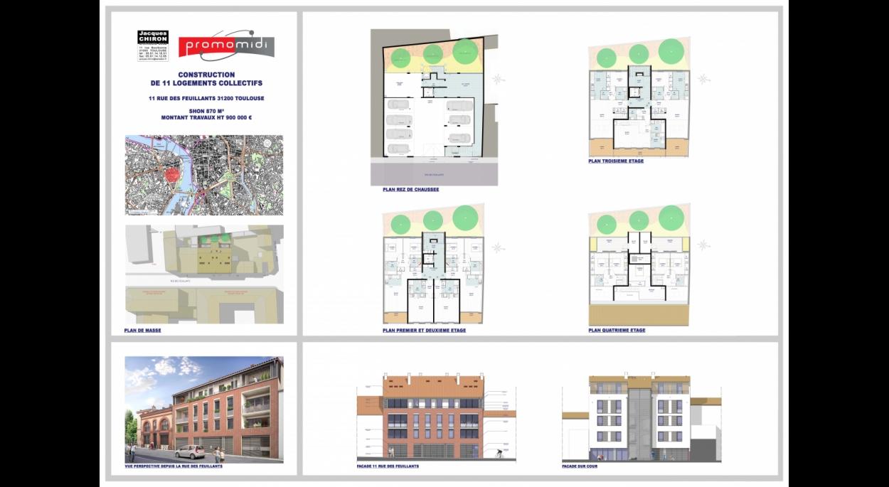 Plans projet rue des Feuillants