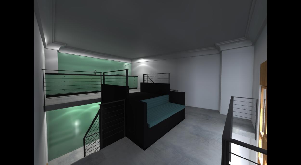 NIV 2 -  Salon cuisine en mezzanine