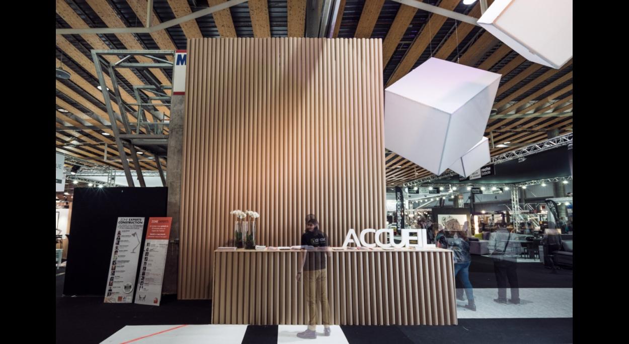 http://www.atelier-plux.fr architecte lille plux scénographie nord amenago événementiel événement grand palais carton nouveautée salon conseils