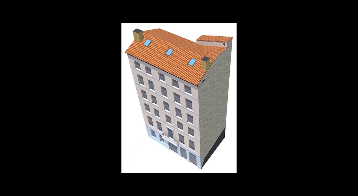 Axonométrie du bâtiment