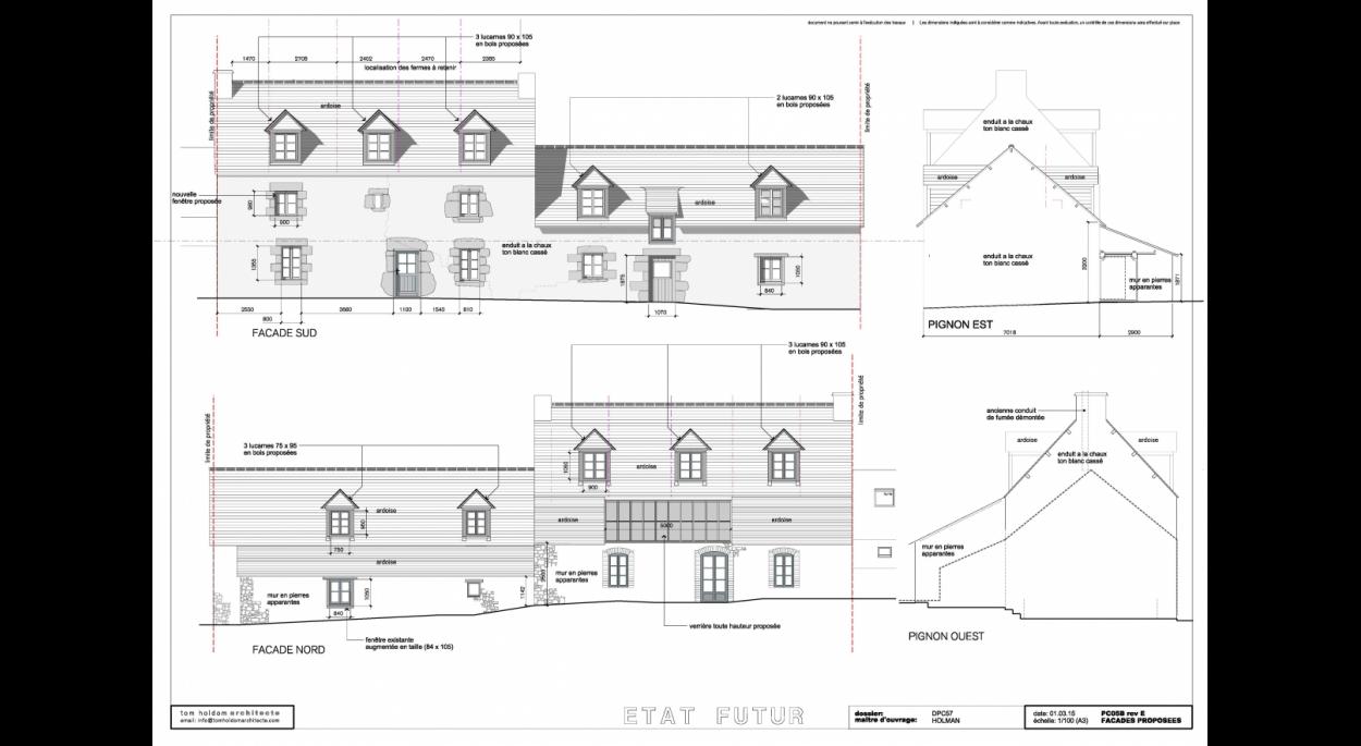 façades proposées