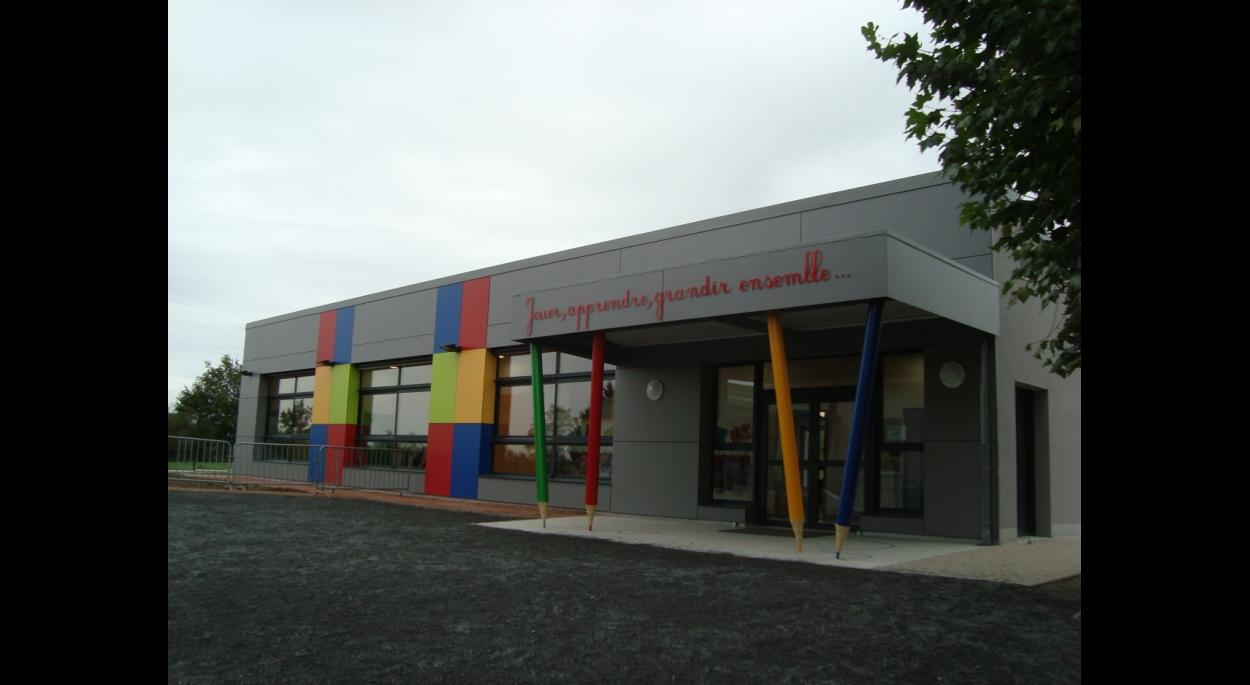 Façade sur cour de l'Ecole Maternelle