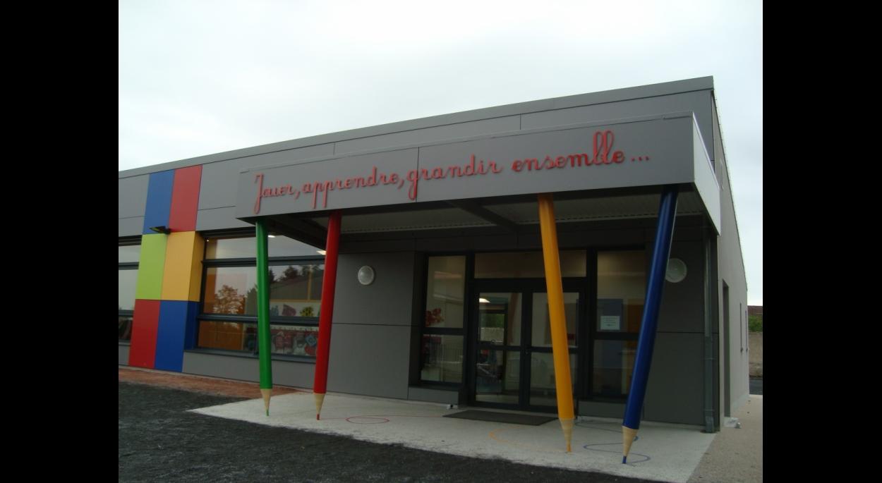 Porche d'entrée de l'Ecole Maternelle
