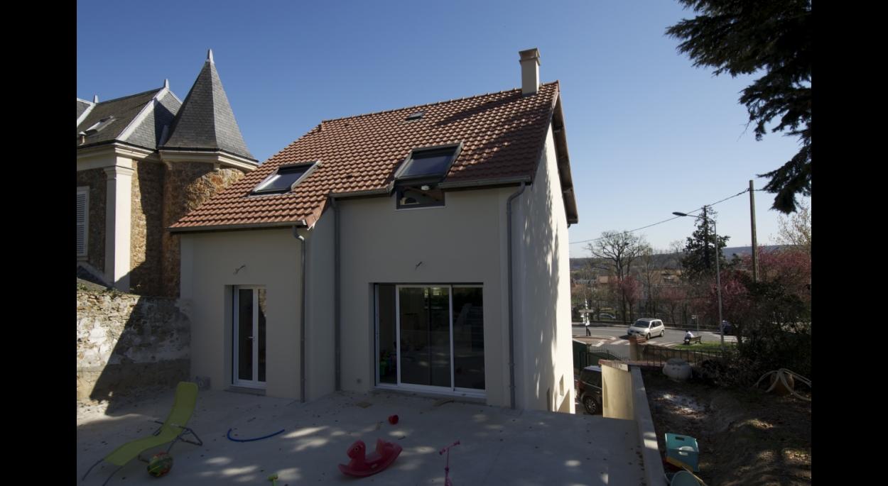 Extension de maison meulière - Terrasse Nord