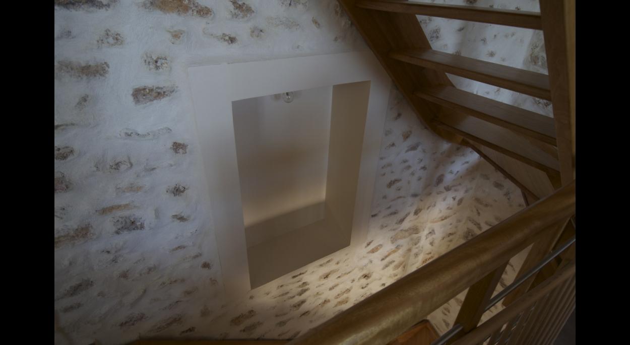 Extension de maison meulière - Détail escalier