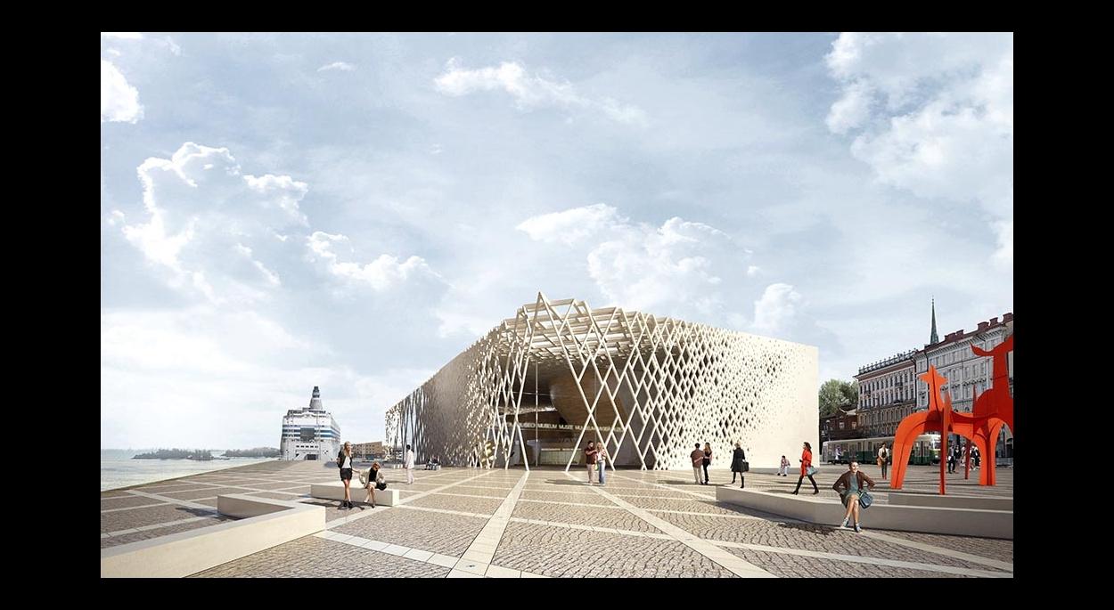 Musée Guggenheim Helsinki : le parvis