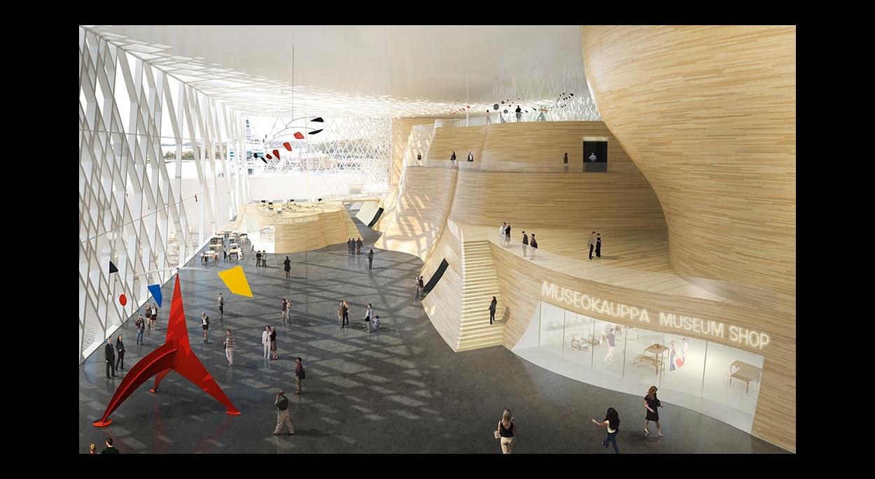Musée Guggenheim Helsinki : la rue intérieure