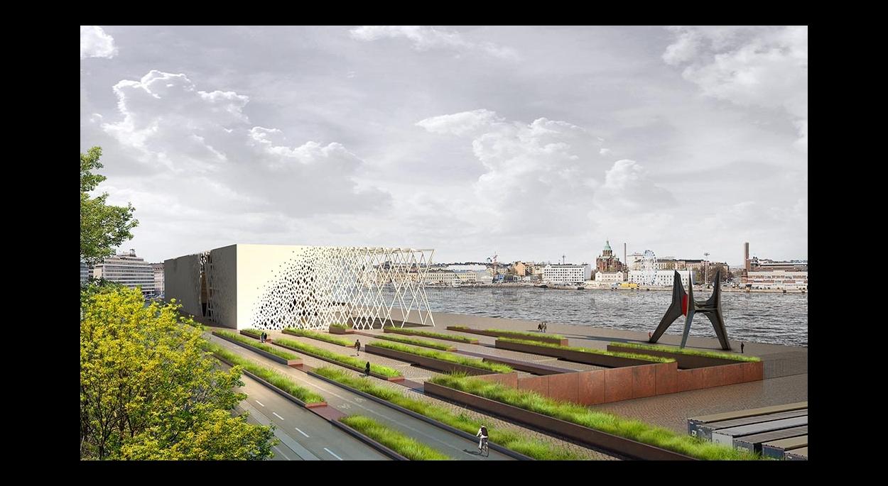 Musée Guggenheim Helsinki : Depuis le terminal portuaire