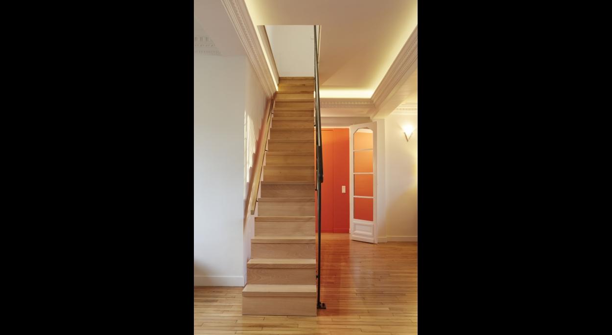 Creation D Une Tremie Escalier restructuration d'un appartement avenue de ségur | passage