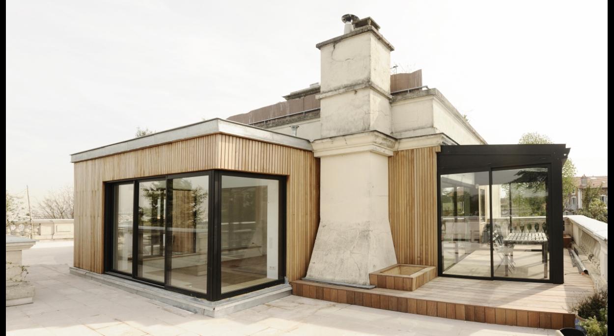 Extension bois à Meudon