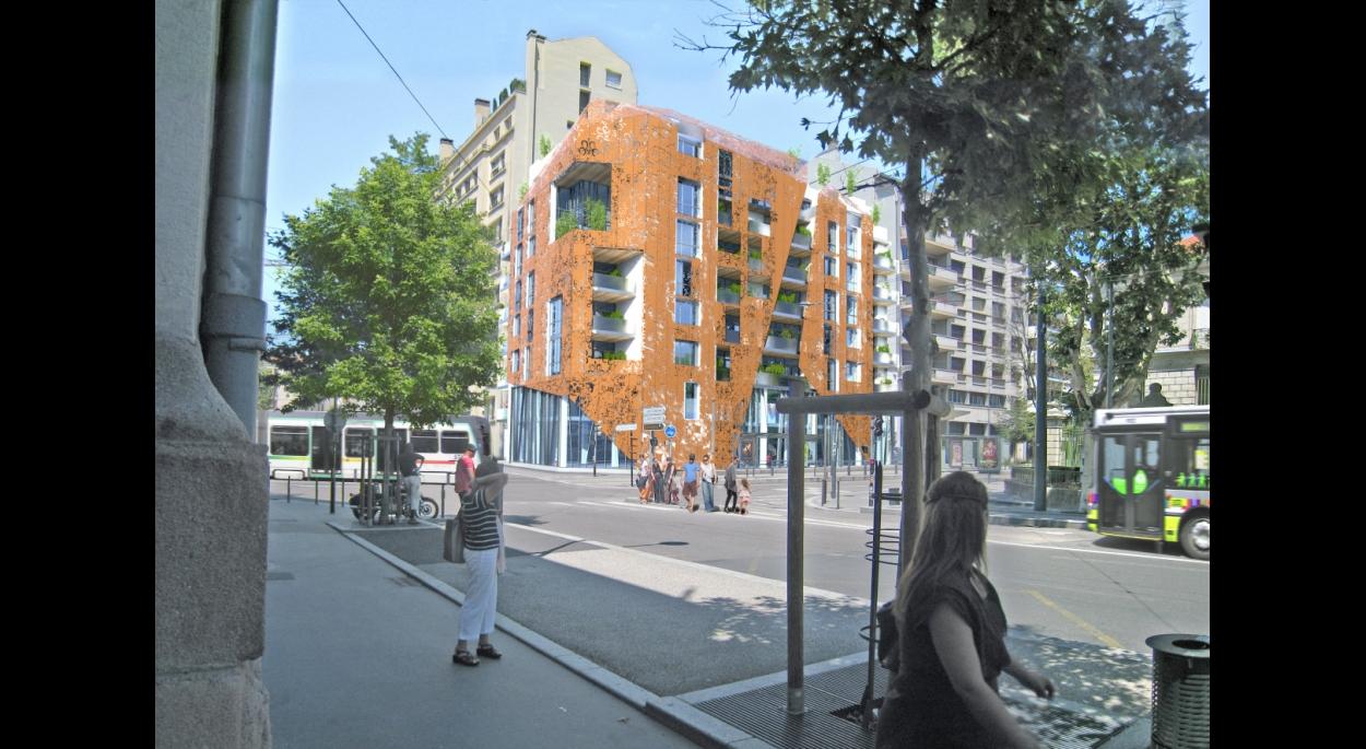 Construction de 27 logements BBC, bureaux et commerces en RDC - Le Royal à Saint-Etienne