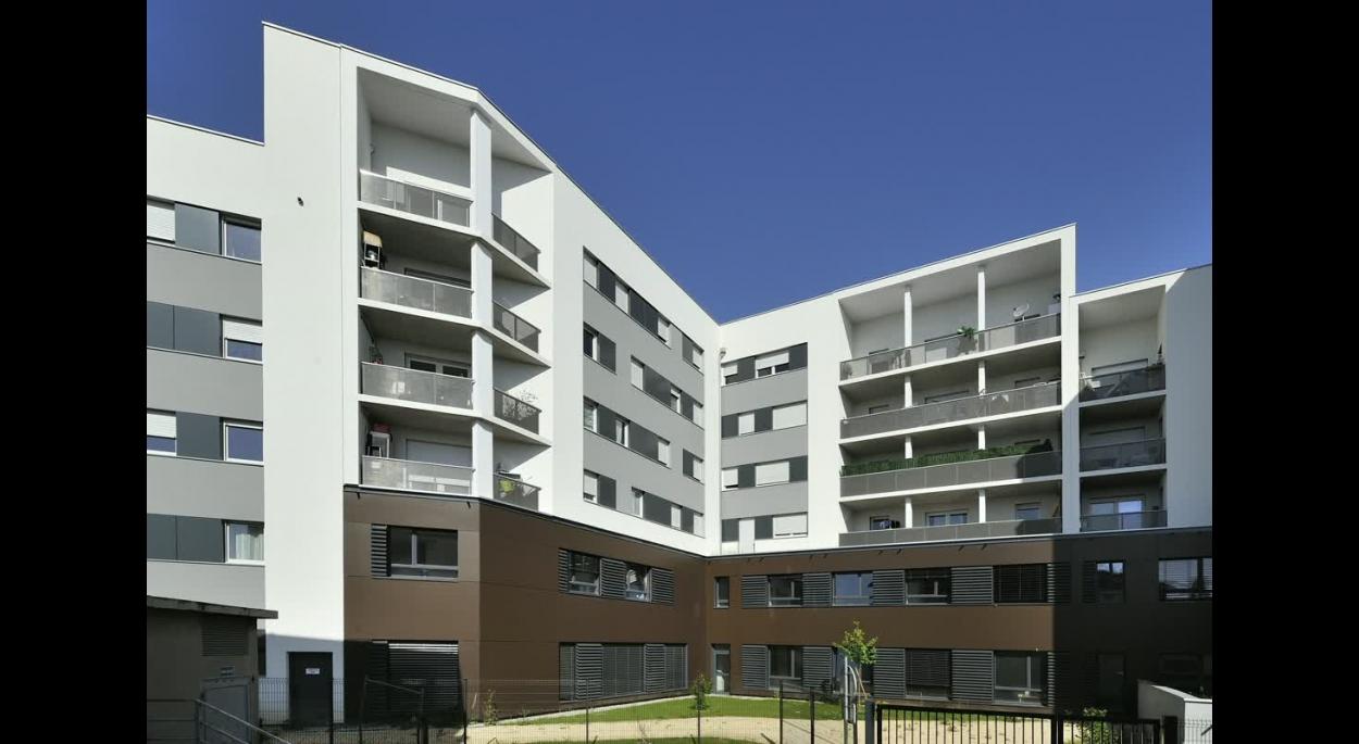 ZAC Parilly Ilot A - 64 logements locatifs sociaux BBC & une maison du Rhône - Photo Balao - XXL Atelier