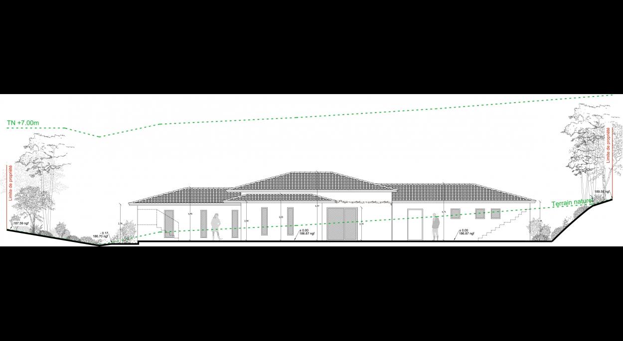 Construction Maison individuelle - Lorgues - Façade Sud