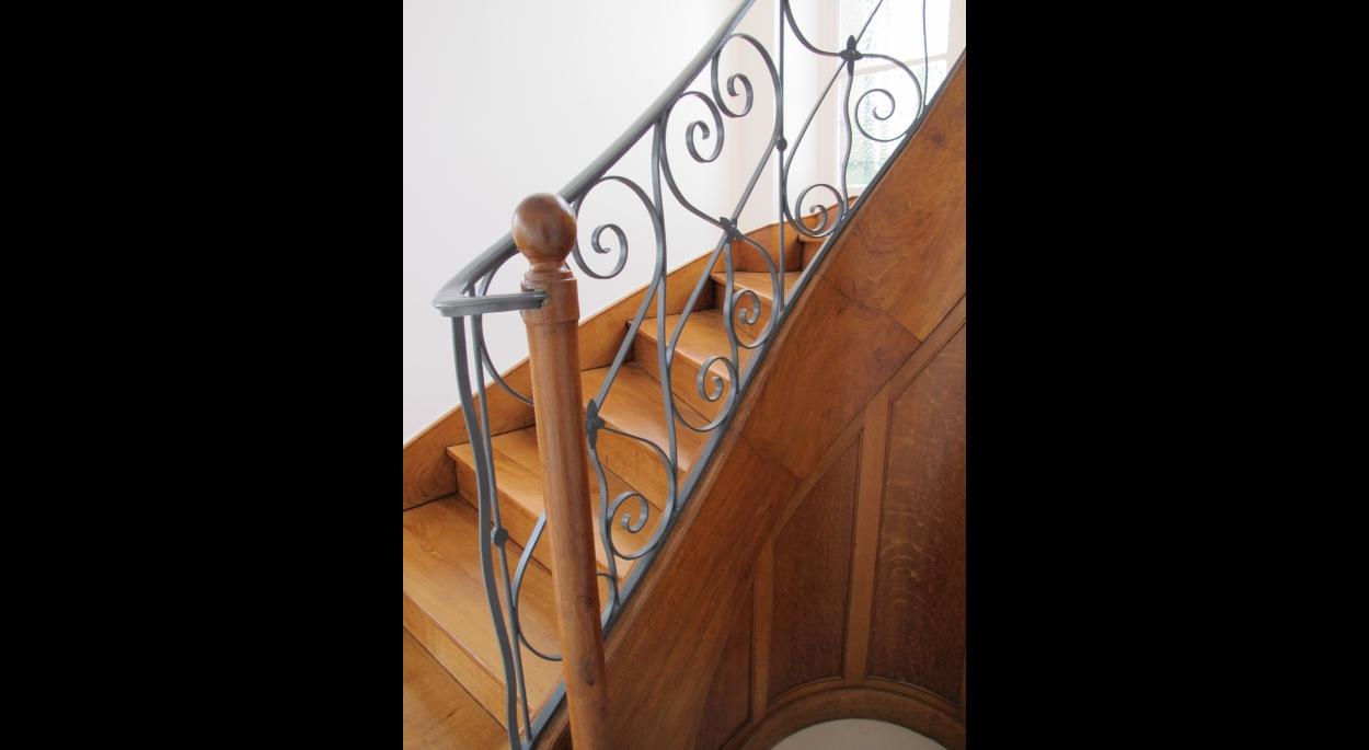 Remise en beauté de l'escalier d'origine
