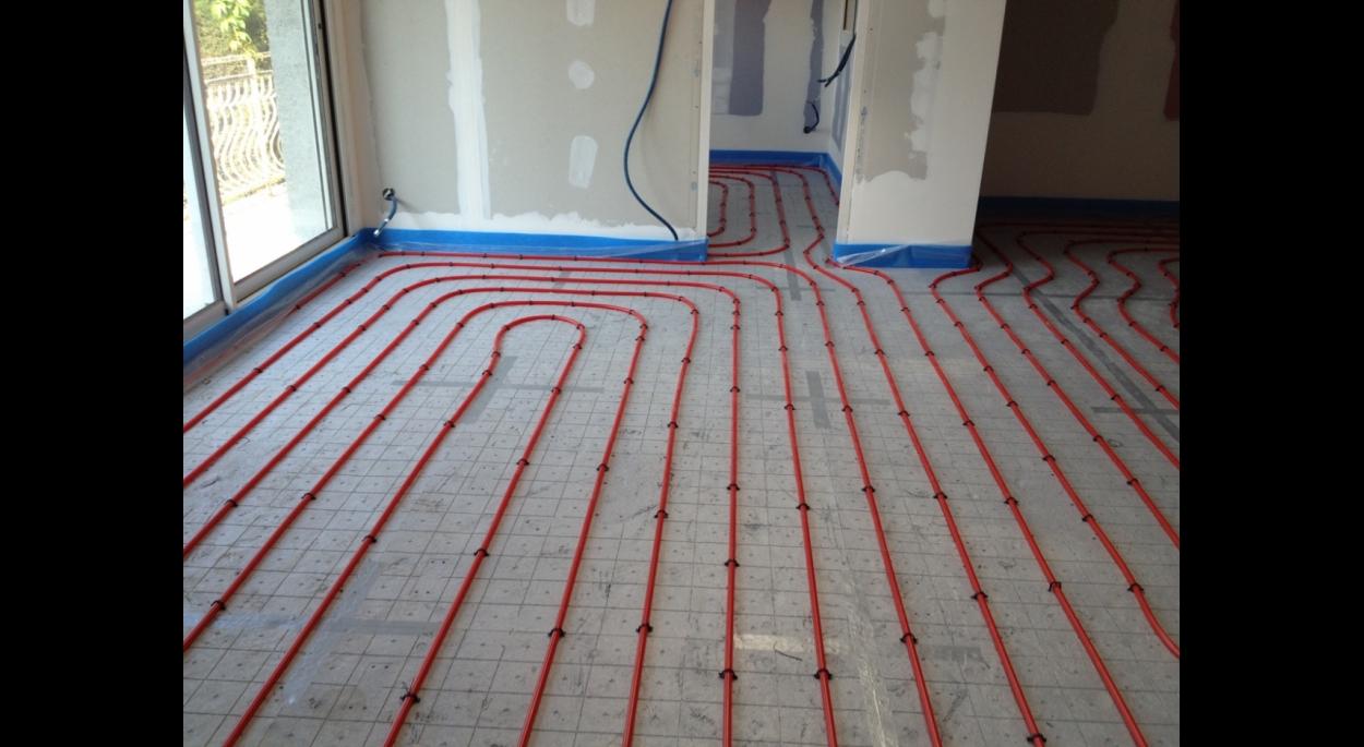 Extension de maison individuelle - Chauffage intégré dans le sol