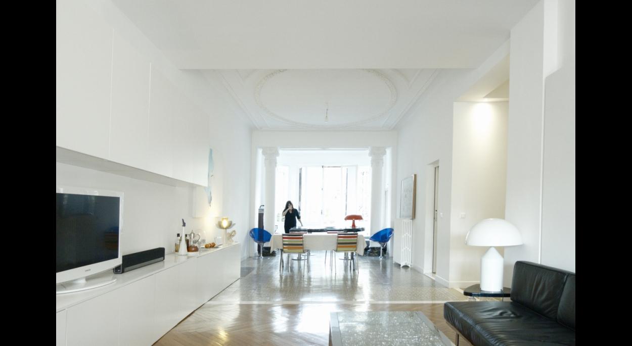 Restructuration d'un appartement familial de 170m² - Vue du séjour