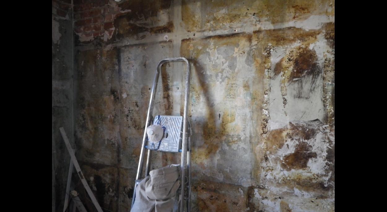 intérieur salle de bain en chantier