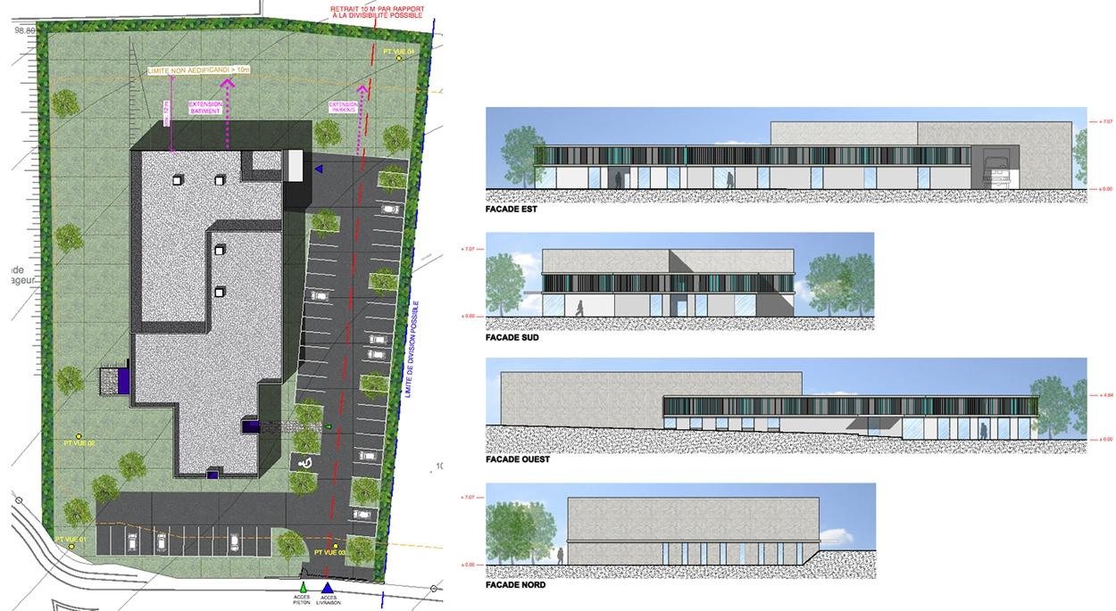 Plan masse et façades
