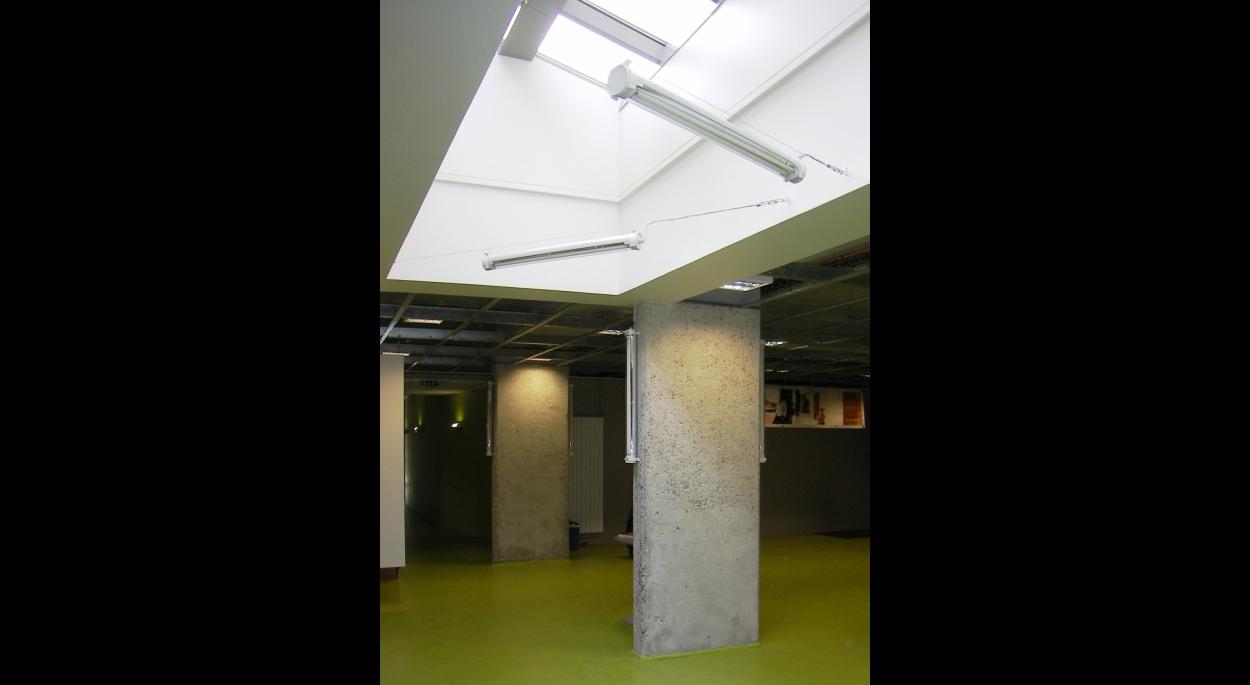 vue de la salle d'exposition